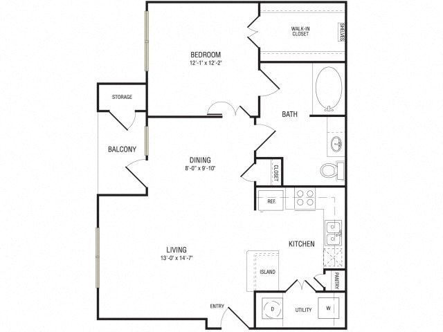 The Frontier Floor Plan at Broadstone Travesia, Texas