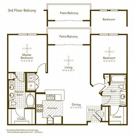 Barda II Floor Plan at Soho Parkway, Texas