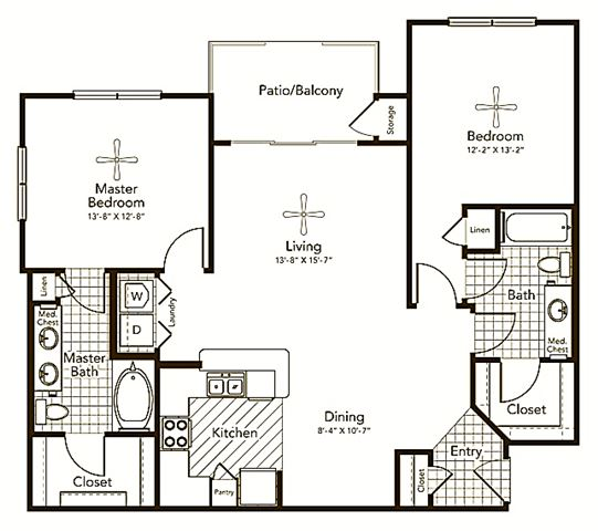 Berlandier Floor Plan at Soho Parkway, Texas