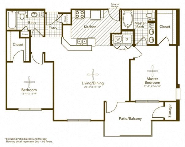 Bisbirinda II Floor Plan Plan at Soho Parkway, Texas, 75070