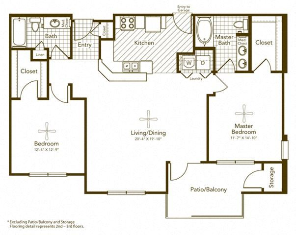Bisbirinda Floor Plan at Soho Parkway, McKinney, TX, 75070