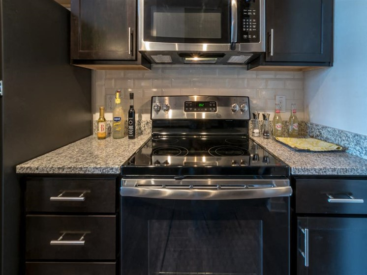 Electric Range In Kitchen at The Village at Marquee Station, Fuquay-Varina, North Carolina