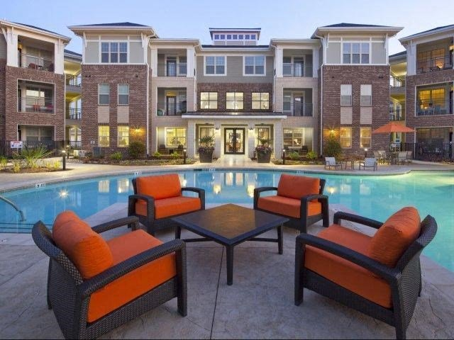 Poolside Entertainment Area at The Village at Marquee Station, Fuquay-Varina, NC