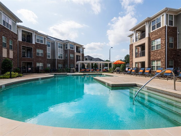 Relaxing Swimming Pool at The Village at Marquee Station, Fuquay-Varina, North Carolina