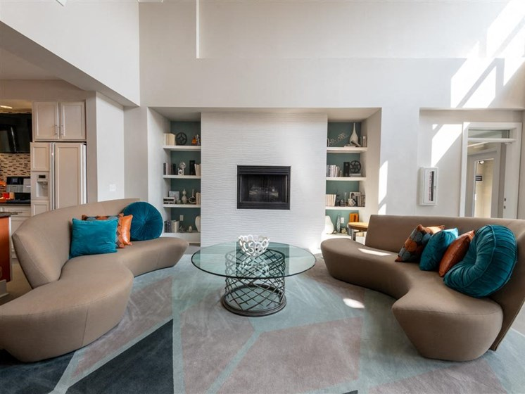 Designer Clubhouse at The Village at Marquee Station apartments in Fuquay-Varina, NC