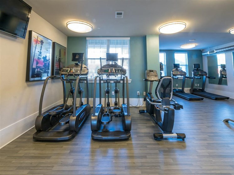 Cardio Machines In Gym at The Village at Marquee Station, Fuquay-Varina, North Carolina