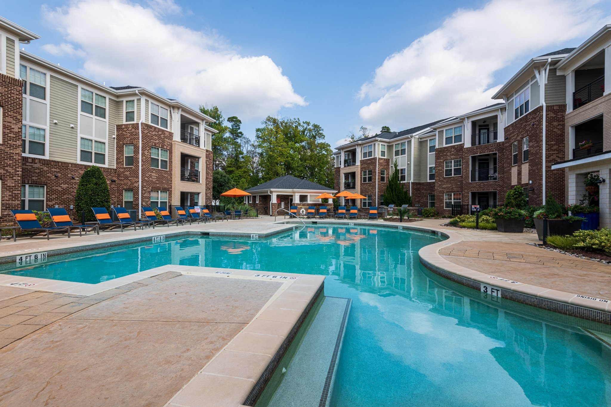 Swimming Pool With Relaxing Sundecks at The Village at Marquee Station, Fuquay-Varina, NC, 27526