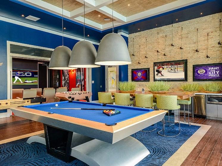 Billiards Game Room at Altis Sand Lake, Florida