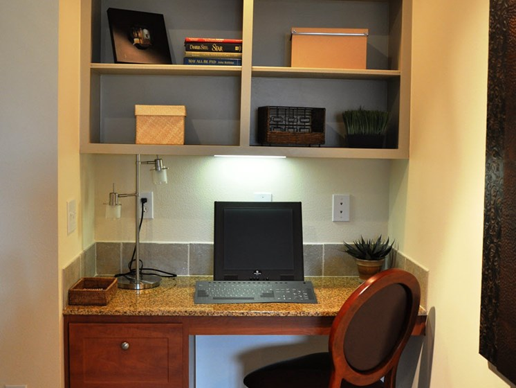 Built in Desk and Shelving at Falls at Copper Lake, Houston,Texas