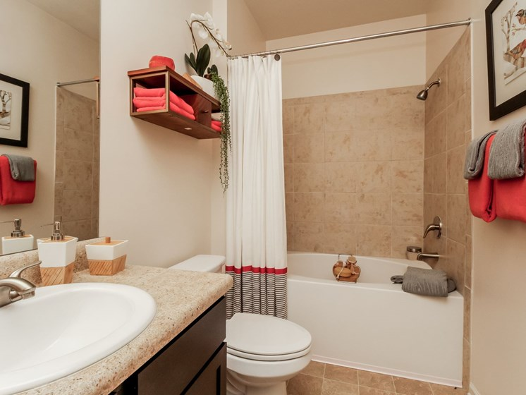Bathrooms with Garden Tubs at Copperfield Apartments, Smyrna, 37167