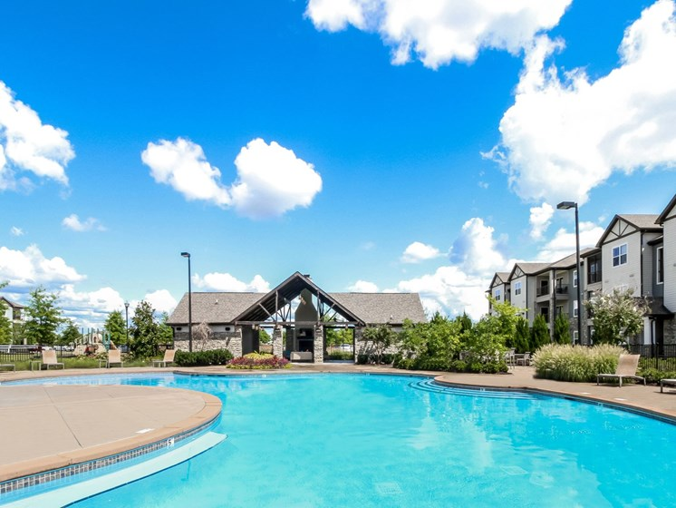 Sparkling Sea Water Pool at Copperfield Apartments, Smyrna, TN
