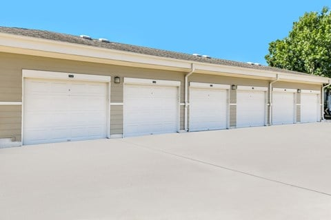 Large Detached Garages at Yorktown Crossing, Houston, Texas