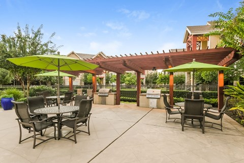 Spacious Picnic Areas with Covered Gas Grills at Yorktown Crossing, Houston, Texas