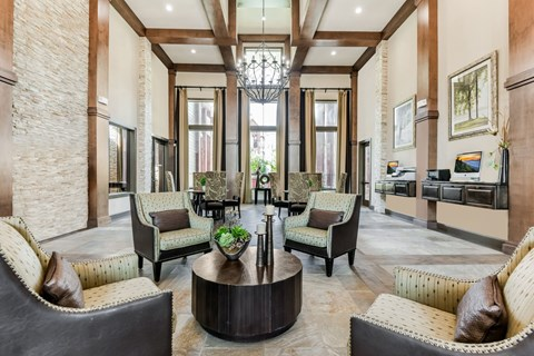 Lavish Clubhouse with Business Center at Yorktown Crossing, Houston, Texas