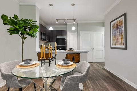 Spacious Open Dining Room at Yorktown Crossing, Houston, Texas