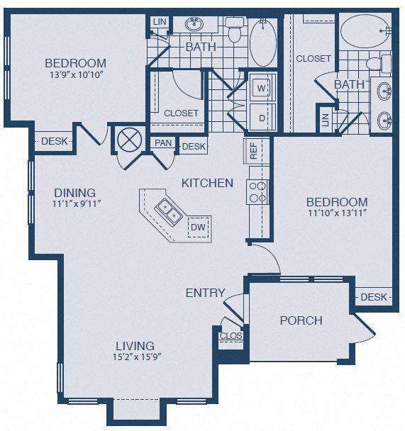 Shiner Floor plan at Yorktown Crossing, Texas, 77084