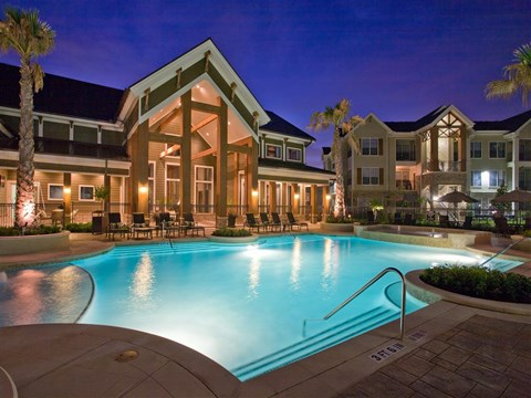 Pool Side Relaxing Area at Yorktown Crossing, Houston, 77084