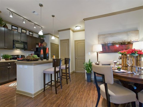 Track Lighting in Kitchen at Yorktown Crossing, Houston, 77084