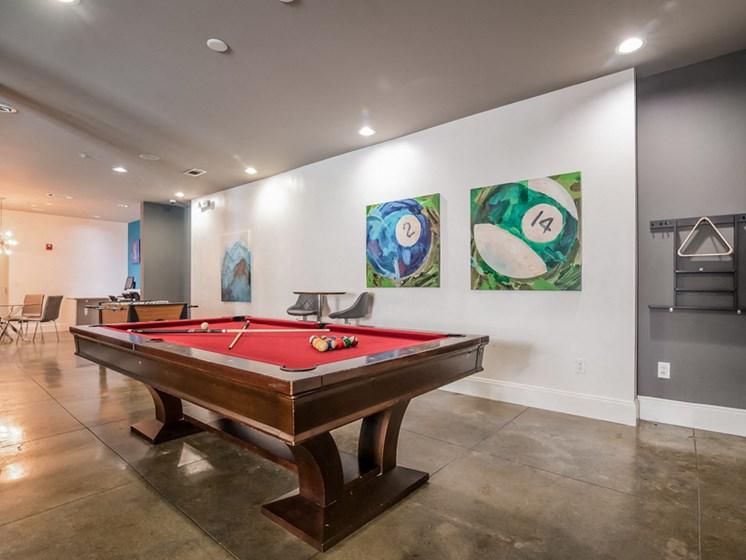Game Room With Billiards at Sorelle, Atlanta, GA