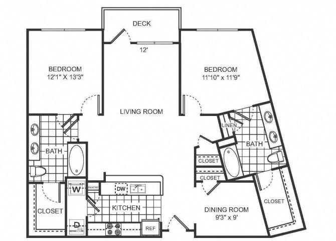 MACY Floor plan at Sorelle, Atlanta, GA 30324
