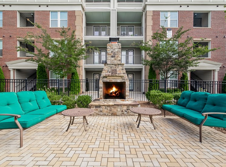 Outdoor Fireplace at Alexander Village, Charlotte, NC, 28262