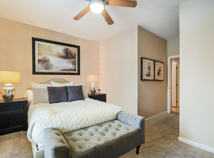 Bedroom With Ceiling Fan at Alexander Village, North Carolina, 28262