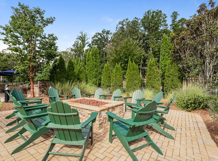 Outdoor Fireplace Lounge at Alexander Village, Charlotte, NC, 28262