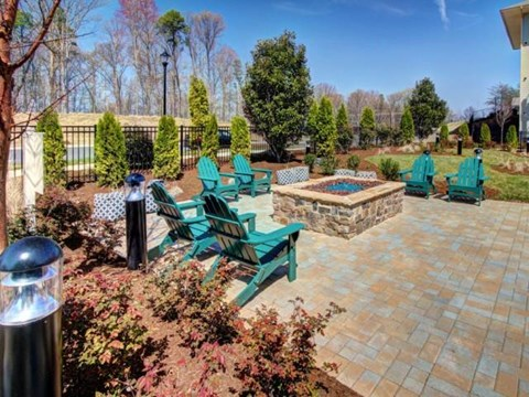 Cozy Fire Pit with Seating at Alexander Village, Charlotte, NC 28262