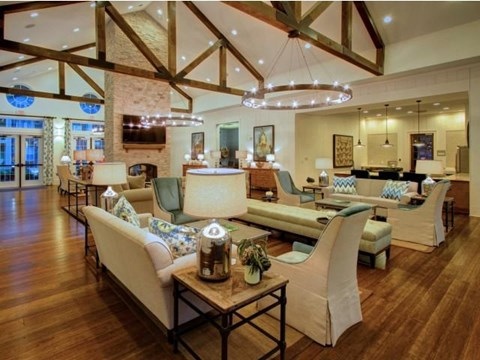 Expansive Clubhouse with Modern Lightning at Alexander Village, Charlotte,North Carolina