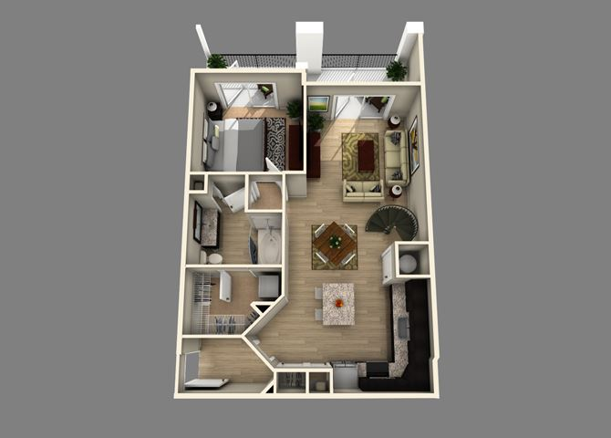 Collins Floor plan at Alexander Village, Charlotte