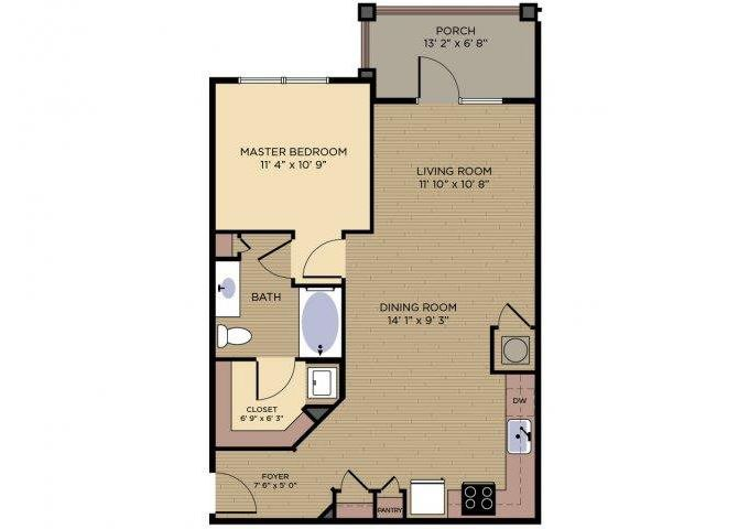 Verdoyer Floor plan at Alexander Village, Charlotte