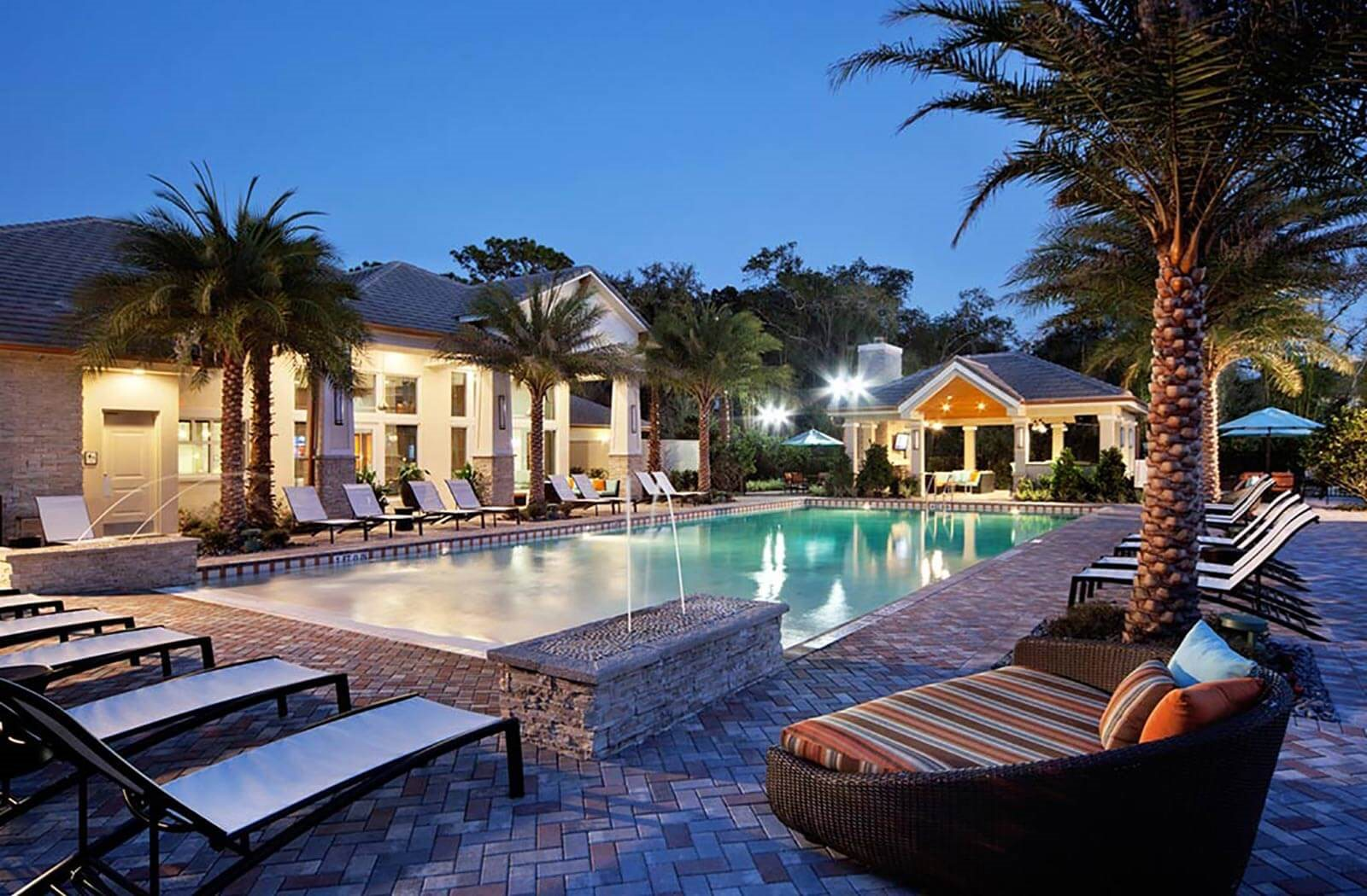Heated Salt Water Pool with Beach Entry at Altis at Grand Cypress, Lutz, Florida