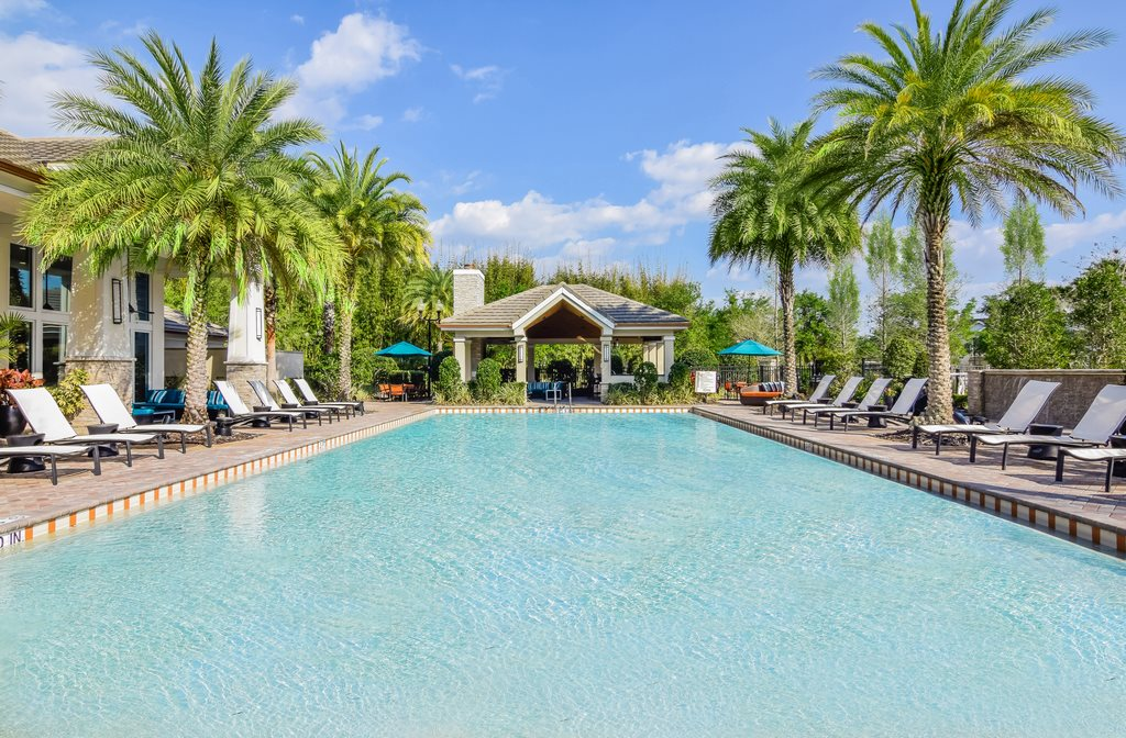 Extensive Resort Inspired Pool Deck at Altis at Grand Cypress, Lutz, FL