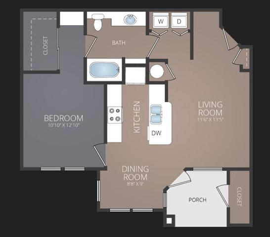A2 Floor Plan at Promenade at Carillon, St. Petersburg, FL
