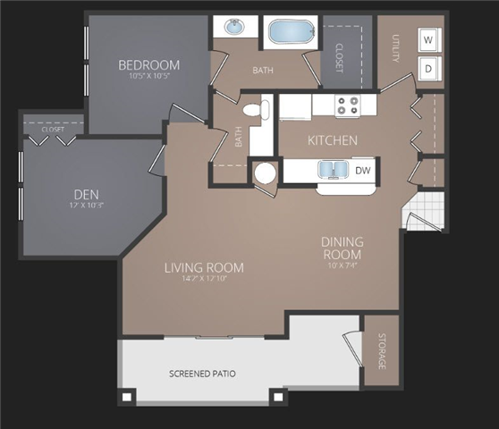 A3 Renovated Floor Plan at Promenade at Carillon, St. Petersburg
