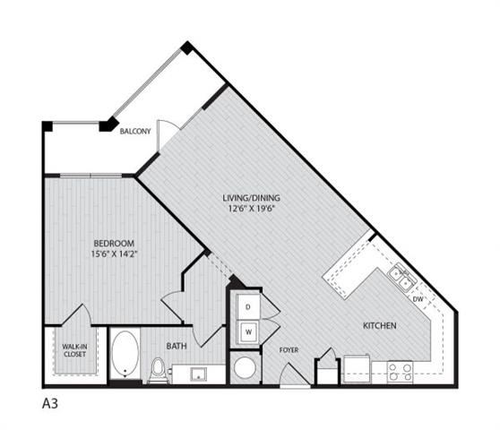A3 FloorPlan at Paxton Cool Springs, Franklin, TN, 37067