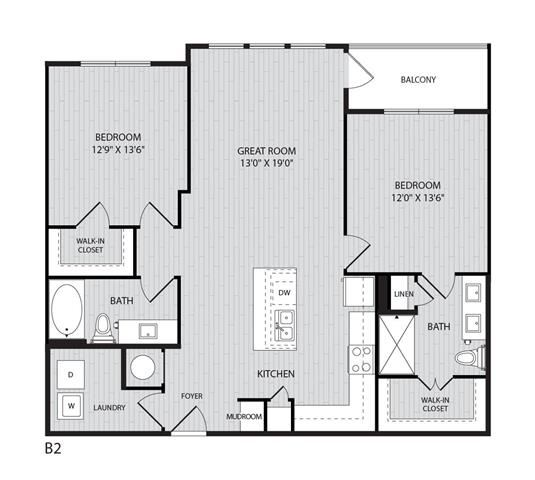 B2 FloorPlan at Paxton Cool Springs, Franklin, Tennessee