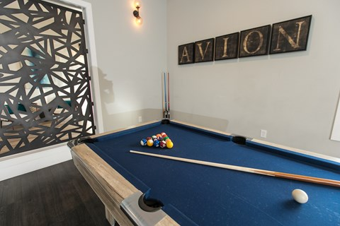 Pool Table l Rancho Cordova, CA Avion Apartments logo