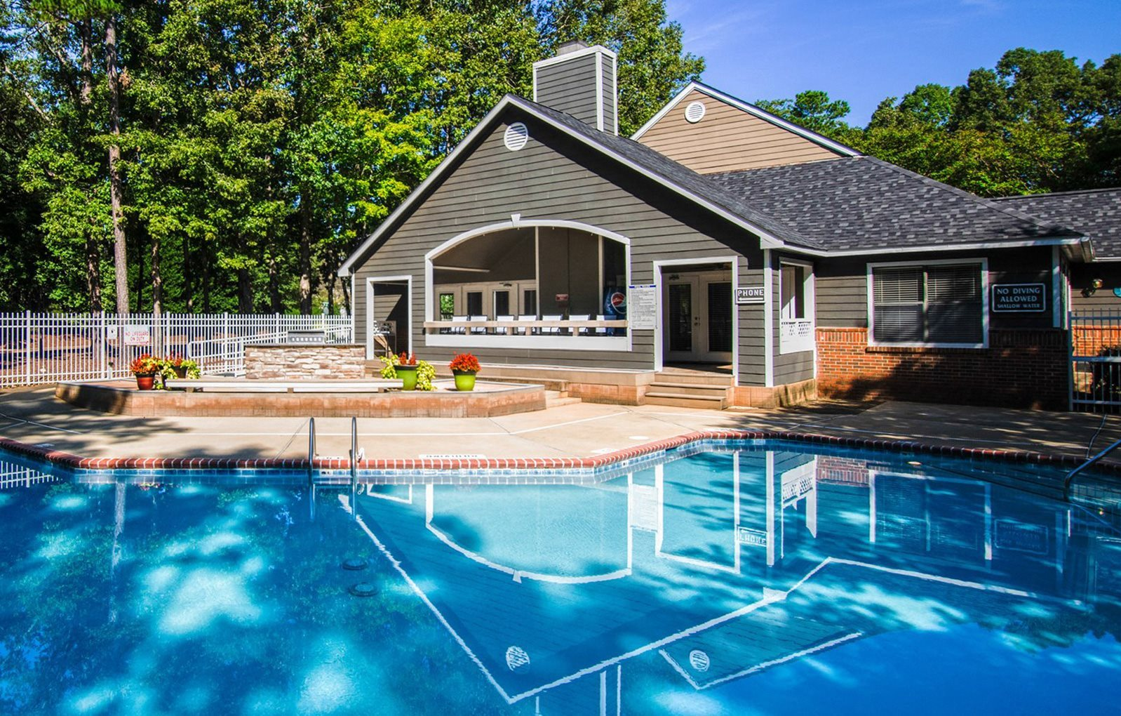pool at luxury apartments in Cary NC