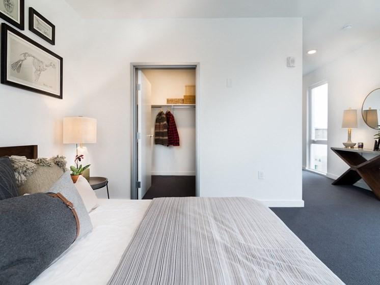 Goat Blocks Apartments Model Bedroom and Closet