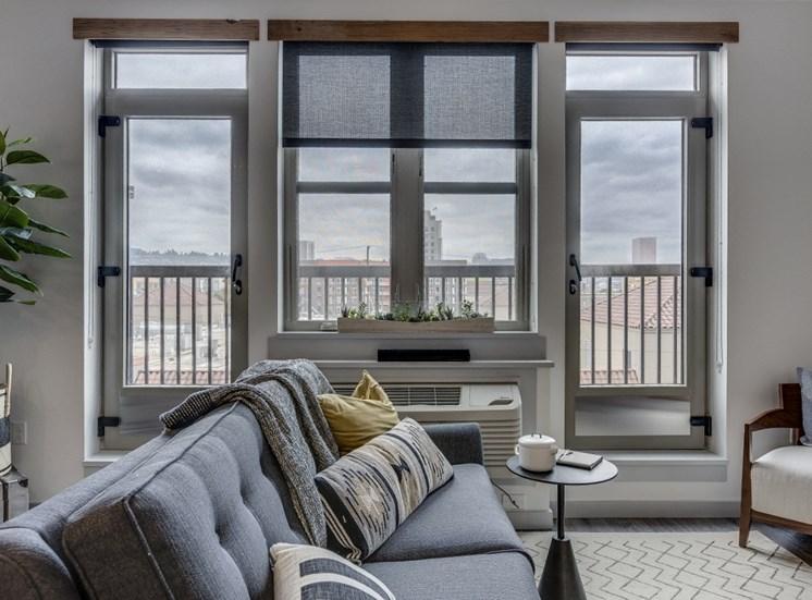 Goat Blocks Apartments Model Living Room and Window