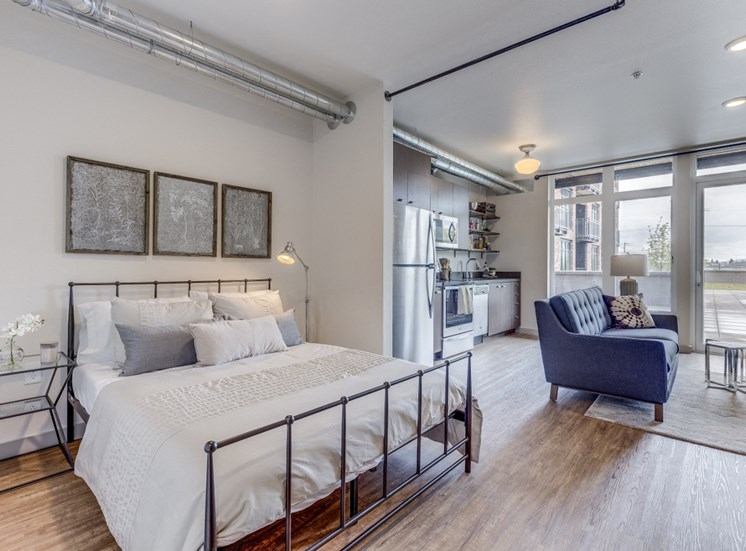 Goat Blocks Apartments Studio Bed with Living Room