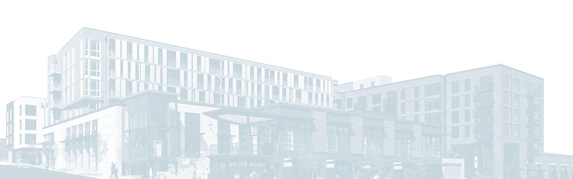 Drawing of Goat Blocks Building Exterior