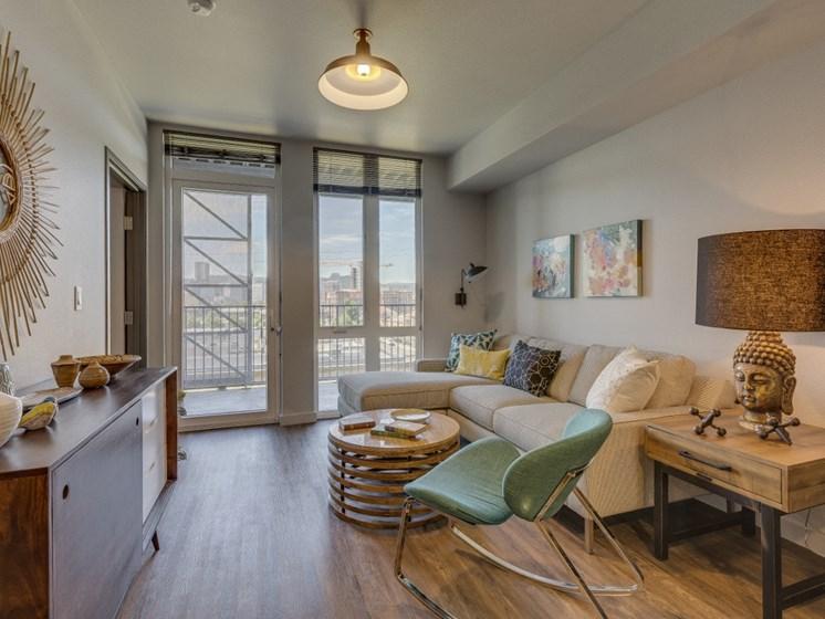 Goat Blocks Apartments Model Living Room
