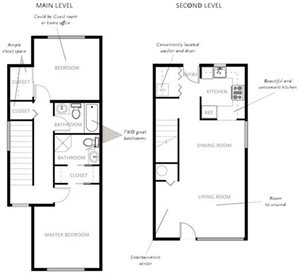 Two Bedroom Apartments Type A1 Townhome