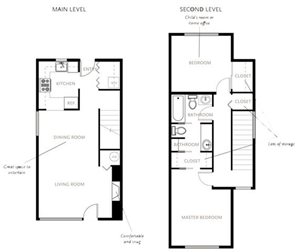 Two Bedroom Apartments Type A Townhome