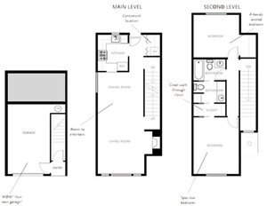 Two Bedroom Apartments Type G 3 Level with Garage
