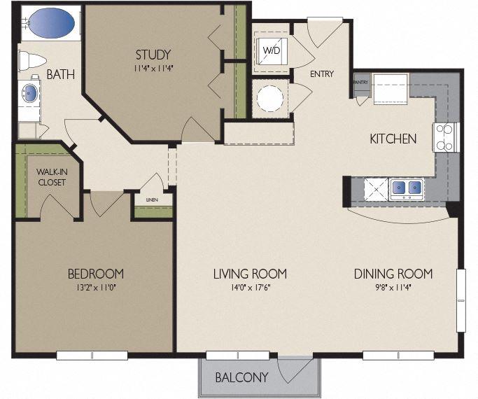 Metro Greenway Apartments - Houston, TX - Singapore Floor Plan