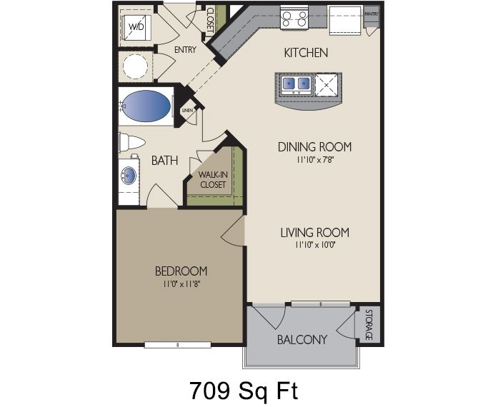 Metro Greenway - Houston, TX - Berlin floor plan 709 sq ft