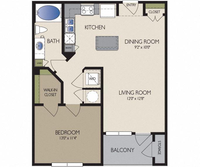 Metro Greenway - Houston, TX - Vancouver floor plan 748 sq ft